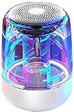 Extra Bass Wasserdicht Speaker Kabelloser Tragbarer Bluetooth Lautsprecher 360° Surround Sound, Bunte Lichter, 6D Surround Sound, 8 Stunden Spielzeit, Für Handy, Pc, Tv-Weiß
