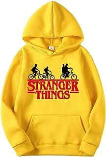 VERROL Hombre Stranger Things Sudadera con Capucha, Stranger Things Sudadera con Capucha Letra Roja Casual Pullover para C...