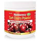 Herba Montmorency Tart Cherry Powder, 150g, Non-GMO, Natural Source of Melatonin, Antioxidants, Organic, Product of Canada, Powder