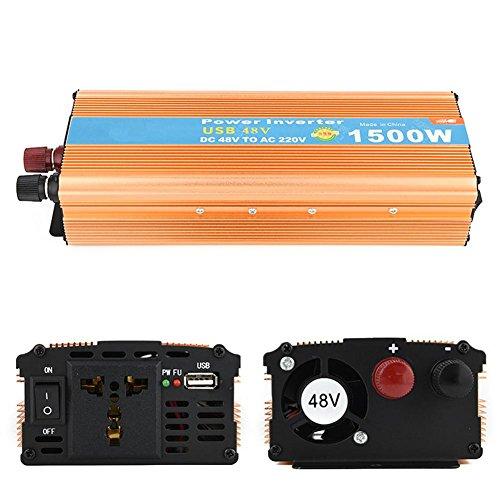 BQ Convertisseur @ Inverseur de puissance 48v à 220v inverseur 1500w adaptateur allume-cigare adaptateur de tension de voiture