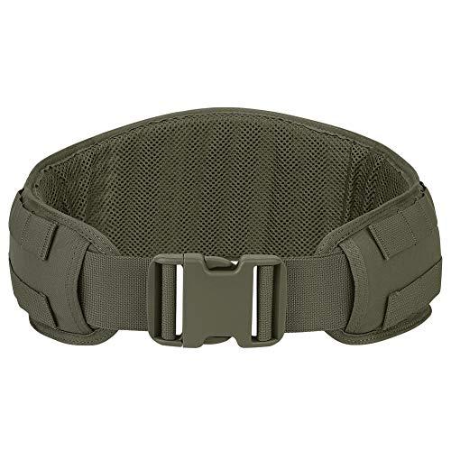 KRYDEX Tactical Belt Molle Modular Low Profile Belt Padded Patrol Belt with Mesh Lining Battle Belt (Ranger Green, 35'-57')