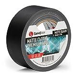Sanojtape Schwarz Matt Gaffer 50mm x 25m Professionelles Duct Tape Leistungsstarkes Gaffer Tape für die Ton- und Lichtindustrie