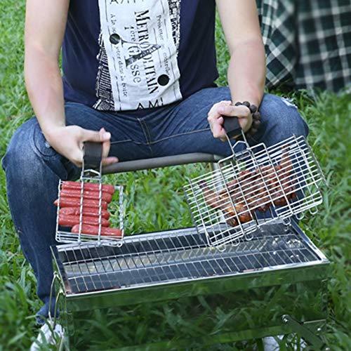 51Khf6lsi2L - SJYDQ NAZHIJINGKEJI Titan Grill im Freien Barbecue Net Picknick Grill Platte Küche Grill Zubehör Durable Küchenwerkzeug mit Griff