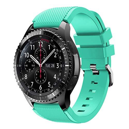 Sweo Correa de reloj de pulsera, correa de reloj deportivo para Samsung Watch 46 mm/Samsung Gear S3/Samsung Gear2 R380/Samsung Gear2 Neo R381/Samsung Live R382