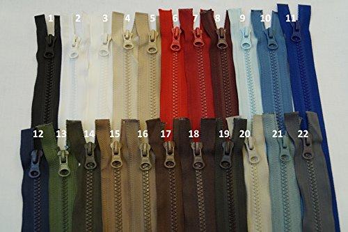 FIM Longueurs spéciales 31 cm - 64 cm - Fermeture éclair double sens - En plastique - Dents n° 5 - Taille moyenne - Divisible pour vestes - 12 - Bleu foncé (330), 62 cm.