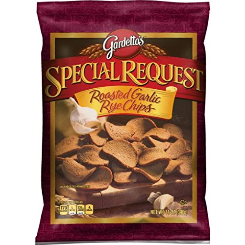 Gardetto's Special Request Roasted Garlic Rye Chips, 14 Ounce (Pack of 4)