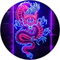 """ADVPRO Chinese Dragon Room Display Dual Color LED Neon Sign Red & Blue 12"""" x 16"""" st6s34-i3225-rb"""