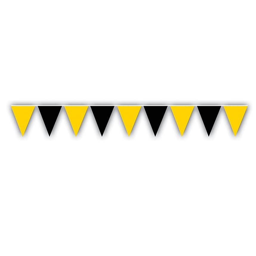 Outdoor Pennant Banner (black & golden-yellow) Party Accessory  (1 count) (1/Pkg)