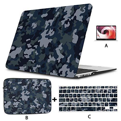 Estuche Macbook Pro 13 Camuflaje Protector Militar Estilo Fresco Estuche Macbook Air Carcasa Dura Mac Air 11'/ 13' Pro 13'/ 15' / 16'con Funda para portátil para Macbook Versión 2008-2020
