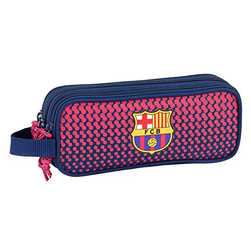 FC Barcelona – Estuche escolar estudiantes Triple Deluxe 1899 One Red FC Barcelona: Amazon.es: Oficina y papelería