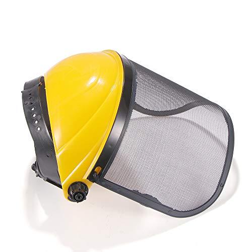 Deepboom Visor de protección con Malla Casco de Seguridad con Visera de Malla Completa,Deepboom Seguridad de Cara Completa Protección,para Motosierra Forestal Profesional