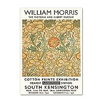 マティスウィリアムの花ポスターとプリントモリスフラワー抽象壁アートクリエイティブキャンバス絵画現代写真家の装飾50x70cmx1フレームなし