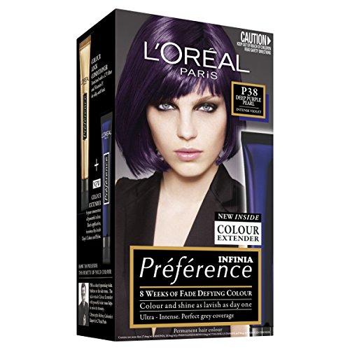 L'Oréal Paris Préférence Permanent Hair Colour - P38 Deep Purple Pearl (Intense, Fade-Defying Colour)