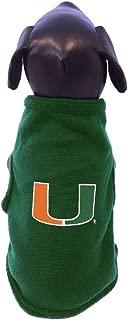 NCAA Miami Hurricanes Sleeveless Polar Fleece Dog Sweatshirt