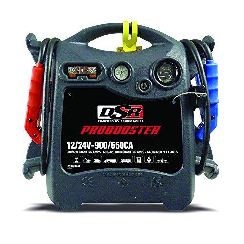 Review Schumacher DSR103AUX 12/24V 900/650A Wheeled Jump Starter