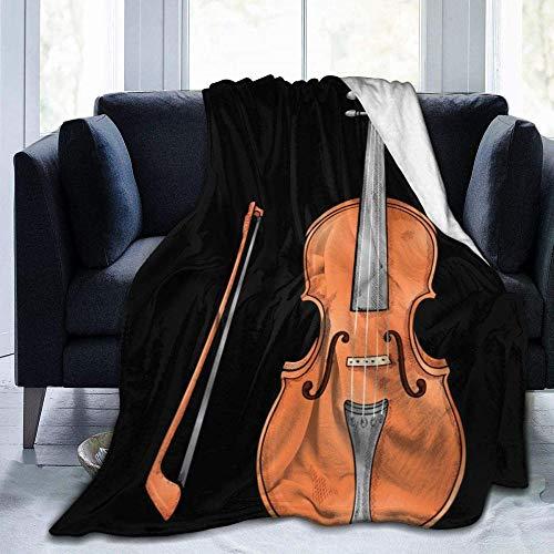 HDAXIA Kuscheldecke Decke,Cello Musical Warm Gemütliche Ultra-Weiche Flanell Leichte Schlafsofa Decke Für Erwachsene/Kinder Geeignet Für Alle Jahreszeiten 60'X50'