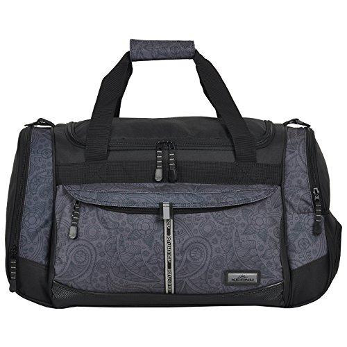 KEANU Sporttasche Adventure Damen Herren ** Viele Fächer z.B. Schuhfach, Seitentaschen, Vordertasche ** 45 Liter Fitness Tasche Sport Sauna Tasche Reisetasche Handgepäck (Black Jaquard)