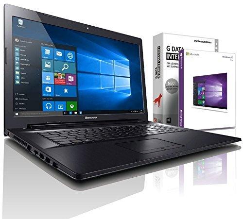 Lenovo (17,3 Zoll) Notebook (AMD A6-6210 Quad Core 4x1.80 GHz, 16GB RAM, 250GB SSD, Radeon R3 3D, HDMI, Webcam, USB 3.0, WLAN, DVD-Brenner, Windows 10 Professional 64 Bit) [geprüfte erneut verpackte Originalware] #5038