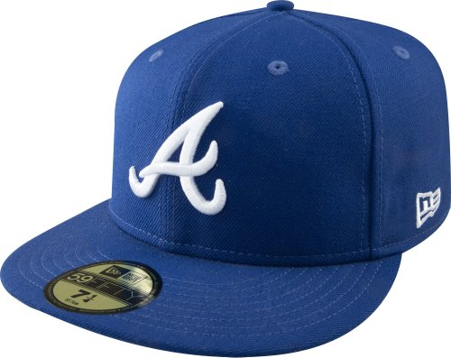MLB Atlanta Braves Light Royal with White 59FIFTY Fitted Cap, 7 1/2