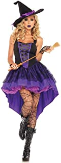 Witch Costume for Women Sorceress Dress Wicked Witch Hat Sexy Halloween Bar Costumes for Women
