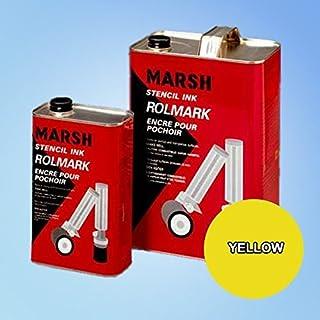 Marsh Rolmark Yellow Ink - Quart