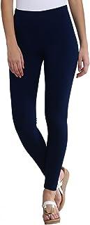 FashGlam Women Premium Ankle Length Cotton Legging - Navy Blue