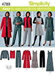 Simplicity Easy-to-Sew 4789 Plus Size Pants, Vest, Jacket and Jumper Sewing Pattern for Women by In K Design, Sizes BB (20W -28W)