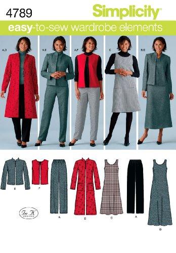 Simplicity 4789 BB Schnittmuster Damen Übergrößen Sportliche Kleidung