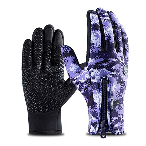 Winter Cycling Gloves Bicycle Warm Touchscreen Full Finger Gloves Waterproof Outdoor Bike Skiing Motorcycle Riding-a38-S
