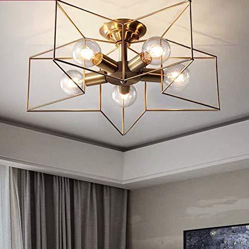 FAGavin Dormitorio de cobre luz simple pasillo de lujo balcón de cinco puntas estrella de la habitación de los niños iluminación