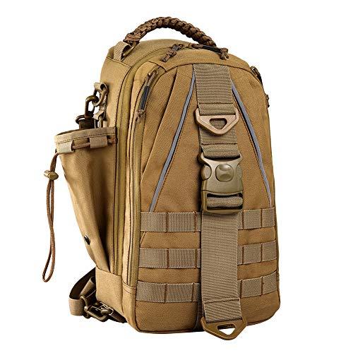 ANTARCTICA ショルダーバックパック ワンショルダー フィッシングバッグ バッグ 釣り タックルバッグ ショルダーバッグ 大容量 多機能 防水 アウトドア ブラウン