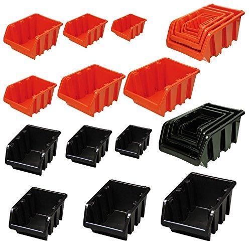 Sichtlagerkästen Stapelboxen Truck Größe 6 orange 10 Stück