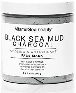 VitaminSEA.beauty Black Sea Mud & Charcoal Cooling & Antioxidant Face Mask