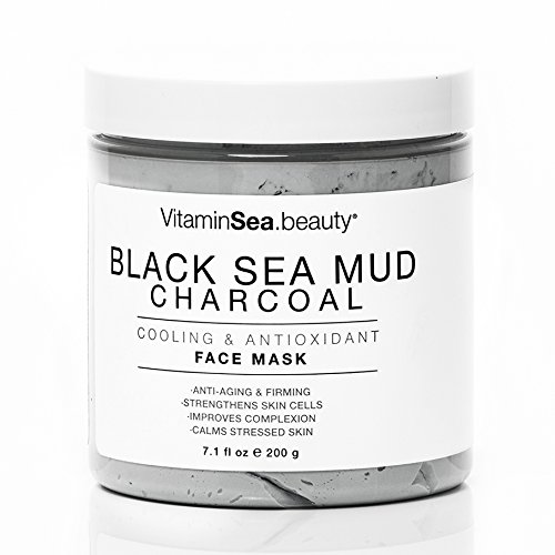 VitaminSea.beauty Black Sea Mud Mask for Face with Charcoal | Essential Minerals | Cooling and Antioxidant - 8.5 Fl Oz