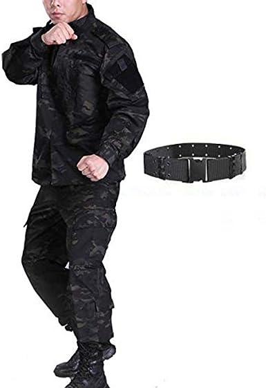 H mundo compra hombres táctico BDU Chaqueta de uniforme de combate Camisa y pantalones traje para ejército militar Airsoft Paintball caza juego de ...