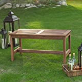 Coral Coast 3 ft. Outdoor Wood Backless Bench, Durable Long-lasting Acacia Wood, Dark Brown