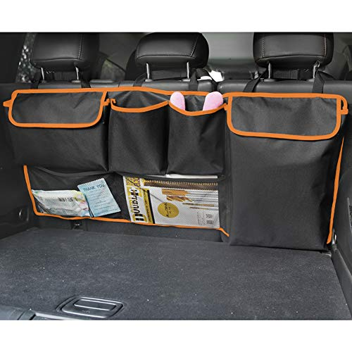 BWONE Car Trunk Organizer, Back Seat Organizers and Storage Hanging Backseat Storage Bag for Car, SUV, Truck, Van(39 x 18 inch)
