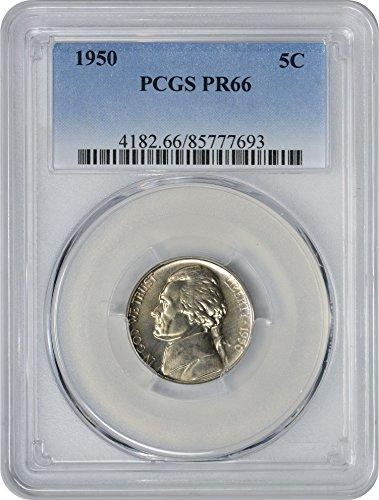 1950 Jefferson Nickel, PR66, PCGS