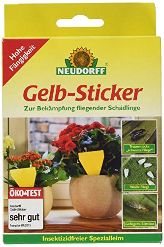 Neudorff 33433 Gelb-Sticker 10 Stück
