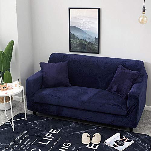 Funda de sofá de Alta Elasticidad,Funda de sofá acolchada de felpa de otoño e invierno, funda de sofá elástica antideslizante, funda de protección de muebles con todo incluido-veinticuatro_90-140cm