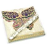 Lady Jayne Purple Butterfly Matchbook Notepad with Pen, 23818