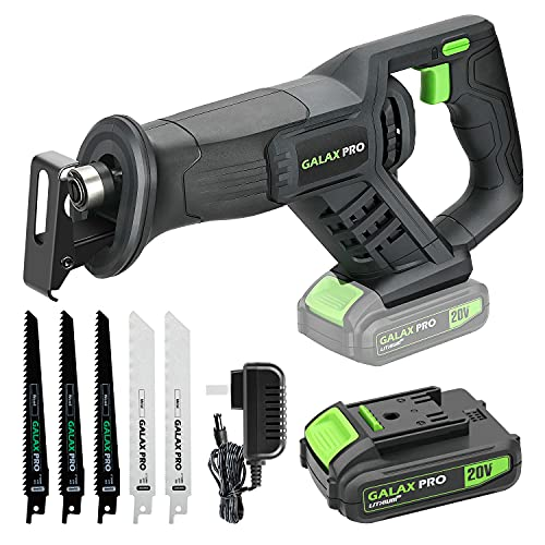 GALAX PRO Reciprocating Saw, Cordless Reciprocating Saw with Fast Charger, Tool-free Blade Change and Variable Speed,...