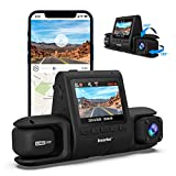 Imazing Dual Dash Cam 4K Single Front or 2K Front and 1080P Cabin,for Cars with Night Vision, Parking Mode, G-Sensor, WDR, Loop Recording, GPS, WiFi, Support 128GB Max