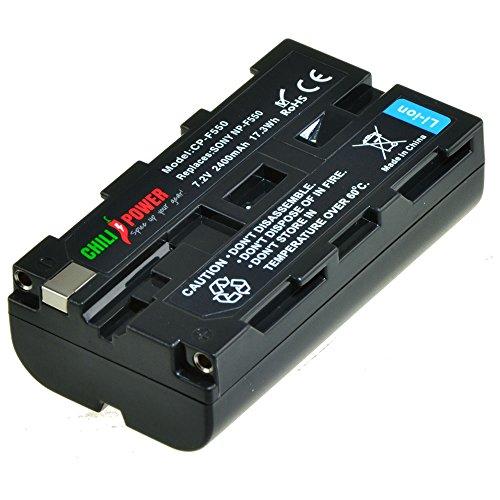 ChiliPower Sony NP-F330, NP-F530, NP-F550, NP-F570 Batería (2400mAh) para Sony CCD-RV100, CCD-RV200, CCD-SC5, CCD-SC6, CCD-SC55, CCD-SC65, CCD-TRV66, CCD-TRV67, DCM-M1, DCR-SC100, DCR-TR7, DSC-CD250, DSC-CD400, DSC-D700, DSC-D770, D-V500, EVO-250, GV-A100, GV-A500, HDR-AX2000, HDR-FX7, HDR-FX1000, HVR-M10P, HVR-M10U, HVR-V1J, HVR-V1U, HVR-Z7U, HXR-NX5U