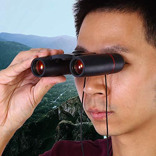 CHICIRIS Binoculares de Metal, 9,2 × 10,5 cm Mini Binocular Resistente y Duradero para observación de Estrellas para Deportes para observación de Aves para Aventuras al Aire Libre