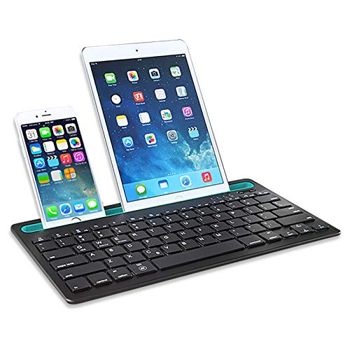Qyaml Bluetooth Multi-Device Keyboard, Recargable, Teclado...