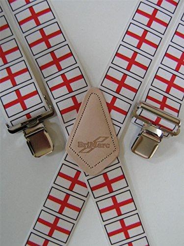 Tirantes para hombre Brimarc con diseño de la Copa del Mundo de Inglaterra, resistentes, 50 mm de ancho de M.K. Tools