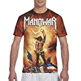 Manowar-Kings of Metal Men's T Shirt 3D Full Printed Two Side Design Tee Black Large