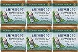 Auromere Ayurvedic Shampoo Bar - Eco Friendly, Vegan, Handmade, Natural, Non GMO, All in One Bar, 6 pack