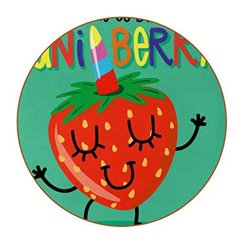 Bennigiry Funny Sweet Smiley Time To Be Uniberry - Posavasos redondos resistentes al calor, 6 unidades
